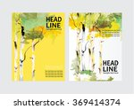 vector brochure flyer design... | Shutterstock .eps vector #369414374