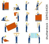 builders people set | Shutterstock . vector #369414434