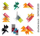 set of paper design style... | Shutterstock .eps vector #369418100