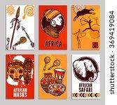 africa poster set | Shutterstock . vector #369419084