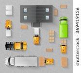 warehouse top view   Shutterstock . vector #369419126
