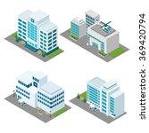 hospital isometric icons set | Shutterstock . vector #369420794