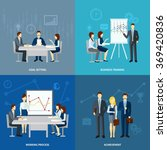 business coaching 4 flat icons... | Shutterstock . vector #369420836