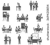 business coaching black icons... | Shutterstock . vector #369420854