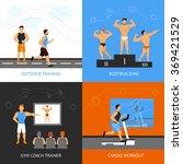trainer design concept set | Shutterstock . vector #369421529