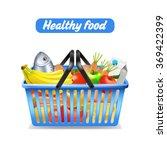 supermarket shopping basket | Shutterstock . vector #369422399