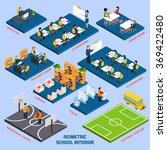 isometric school interior | Shutterstock . vector #369422480