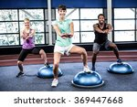 fit people doing exercise with... | Shutterstock . vector #369447668