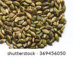 spicy toasted pumpkin seeds on... | Shutterstock . vector #369456050