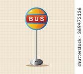 bus stop theme elements | Shutterstock .eps vector #369472136
