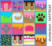 colored seamless pattern drips...   Shutterstock .eps vector #369478163