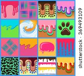 colored seamless pattern drips...   Shutterstock . vector #369493109
