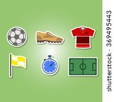 color set with soccer icons for ... | Shutterstock .eps vector #369495443