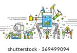 flat style  thin line art... | Shutterstock .eps vector #369499094