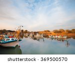 Wooden Fishing Boats Resting A...