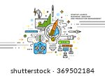 flat style  thin line art... | Shutterstock .eps vector #369502184