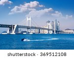 gwangan bridge and haeundae in... | Shutterstock . vector #369512108