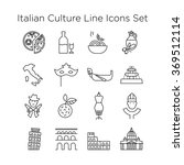 italian culture icons  culture... | Shutterstock .eps vector #369512114
