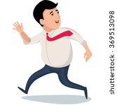 businessman run   Shutterstock .eps vector #369513098
