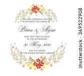 wedding invitation with... | Shutterstock .eps vector #369522908