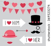 valentine's day vector photo... | Shutterstock .eps vector #369523274