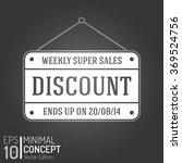 business discount sales banner. ... | Shutterstock .eps vector #369524756
