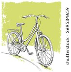 hand drawn vintage bicycle | Shutterstock .eps vector #369534659