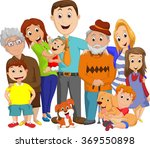 illustration of a big family... | Shutterstock .eps vector #369550898