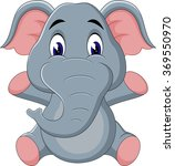 illustration of cute elephant... | Shutterstock .eps vector #369550970