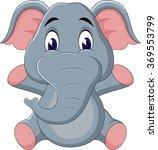 illustration of cute elephant... | Shutterstock . vector #369553799