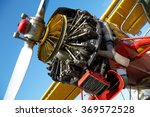 airplane engine exposed.... | Shutterstock . vector #369572528