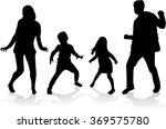 dancing people silhouettes. | Shutterstock .eps vector #369575780