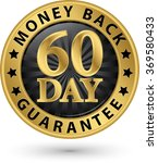 60 day money back guarantee... | Shutterstock .eps vector #369580433