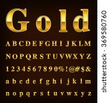 gold alphabet set   Shutterstock .eps vector #369580760