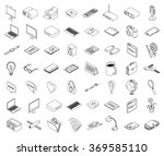 set of isometric outline of...