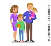 happy family portrait  smiling... | Shutterstock .eps vector #369588848