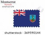montserrat stamp design over... | Shutterstock .eps vector #369590144