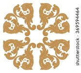 premium gold vintage baroque... | Shutterstock .eps vector #369594464