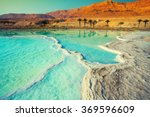 Stock photo dead sea salty shore wild nature tropical landscape summertime 369596609