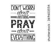 vector religions lettering  ... | Shutterstock .eps vector #369603554