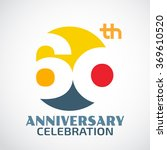 template logo 60th anniversary... | Shutterstock .eps vector #369610520