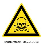 warning toxic material sign ... | Shutterstock .eps vector #369613013