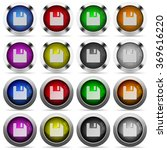 set of save glossy web buttons. ...