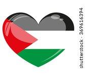 palestine flag heart vector...   Shutterstock .eps vector #369616394