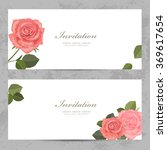 neat invitation cards with...   Shutterstock .eps vector #369617654