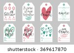 romantic gift tags set in...   Shutterstock .eps vector #369617870