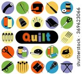 quilt tools for sewing ... | Shutterstock .eps vector #369623066