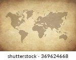 map on old paper  | Shutterstock . vector #369624668
