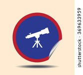 spyglass vector icon. flat...