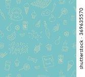 vector doodle food elements... | Shutterstock .eps vector #369635570